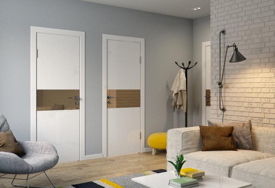 каркасная дверь в интерьере