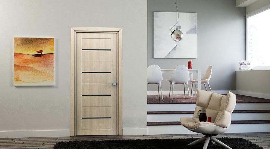 царговая дверь серии x профиль дорс в интерьере