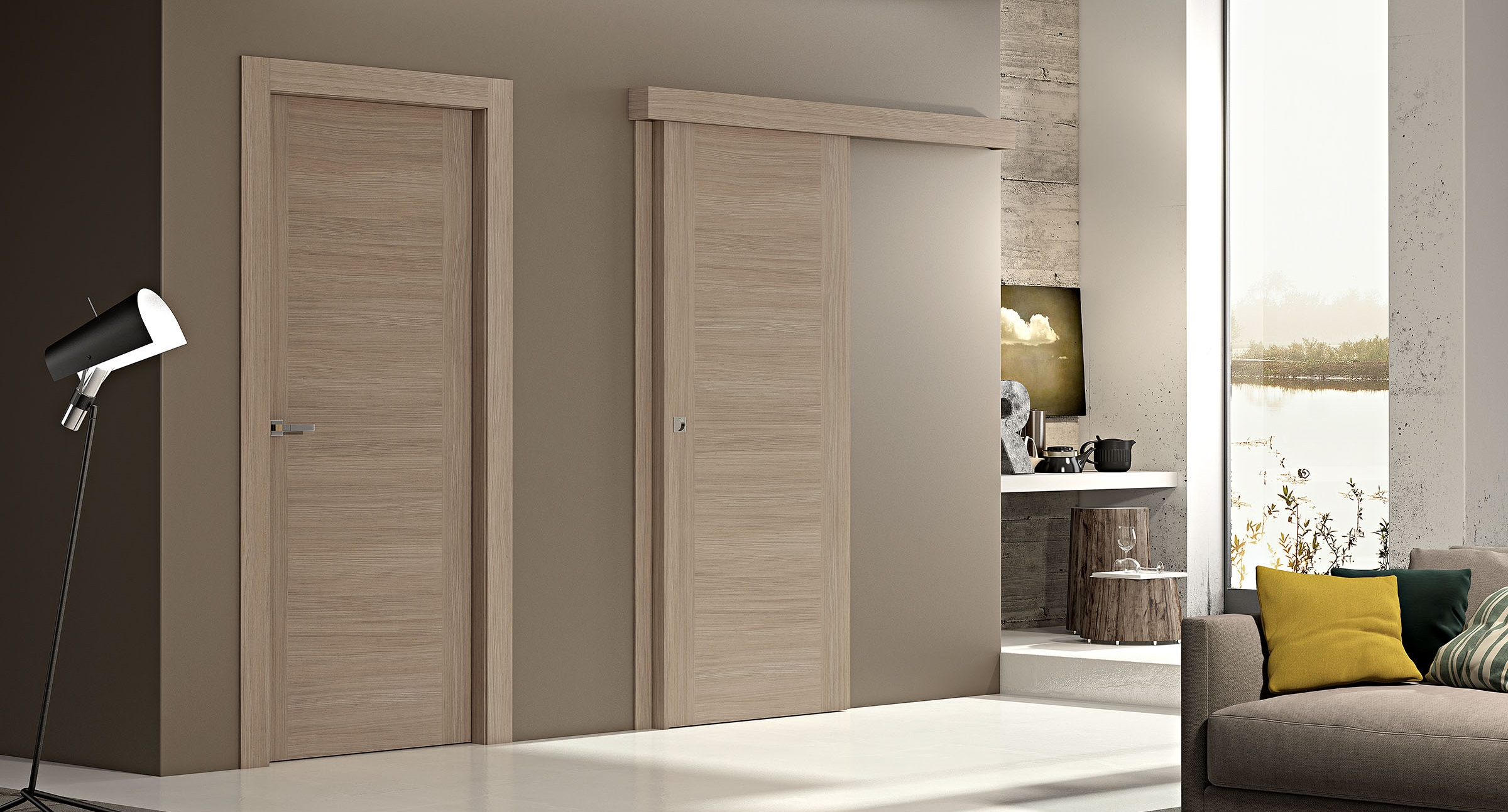 дверь в интерьере квартиры