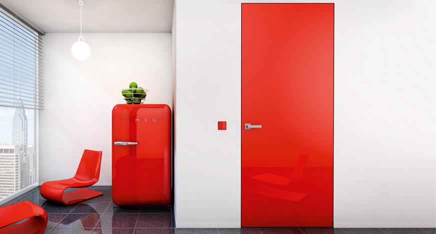 скрытая красная дверь